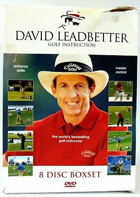 David LeadBetter Golf Instruction  DVD Box Set Collection of 8 Disc (1 Missing)