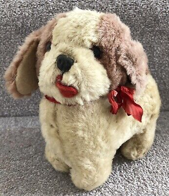 Vintage Pink And White Dog Soft Toy Teddy Chiltern Or Similar