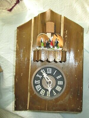German Coo Coo Clock Parts, Regula Movement, Rabbit, Pheasant, Dancers