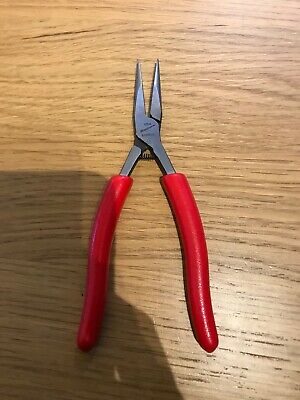 Snap On Mini Long Nose Smooth Pliers In Red NEW
