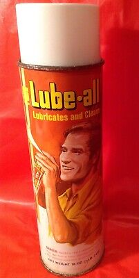 Rare, Vintage Spartan Co. Lube All 18oz Spray Can Full