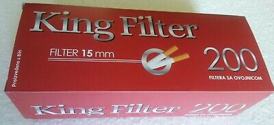 200x King Filter Empty Tobacco Cigarette Filter Tubes 200 pc King Size