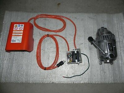 RIDGID 300 motor 115V. with FWD/REV and foot switch for Rigid 300,360,311,341