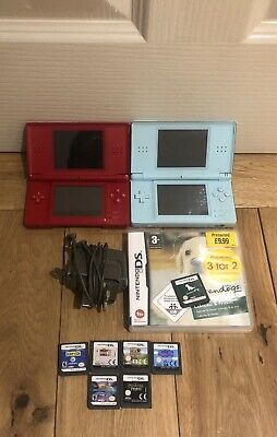 Nintendo Ds Lite Consoles x 2 with 7 games