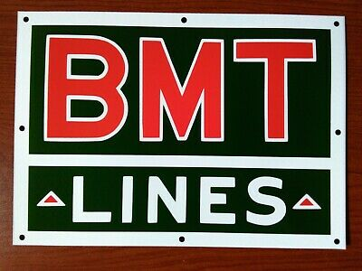 1930s Bmt Lines   New York City Subway Sign image/Decal