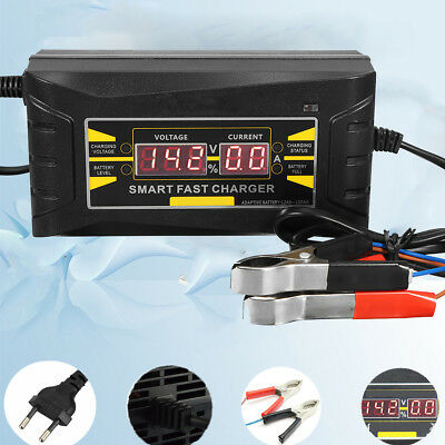 LCD Display  Intelligent Chargeur de Batterie Affichage 12V 6A Voiture Moto Plug