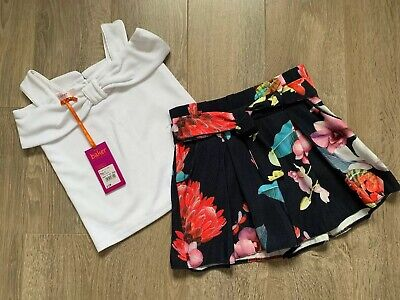 New Ted Baker Girls Outfit Set Top Shorts Size 6 Years CurrentSeason