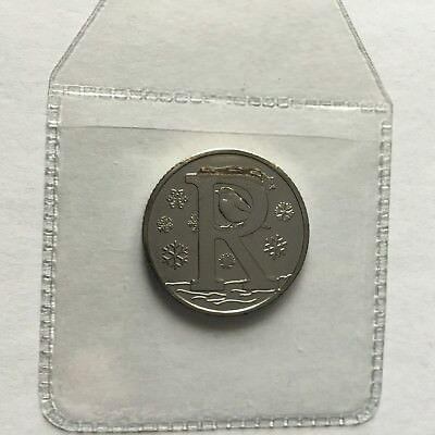 Great British Coin Hunt A-Z Alphabet 10p. Uncirculated Letter R For Robin 2018