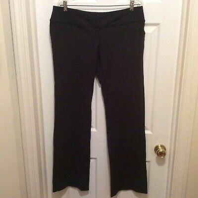 Lucy Pants XL Tall Black Solid Elastic Waistband Stretch Straight Leg