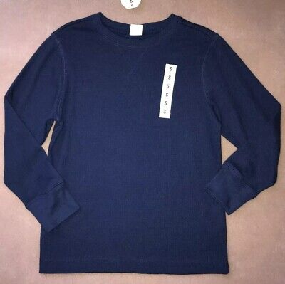Crazy 8 by Gymboree Boys Size 5-6 Navy Thermal Long Sleeve Top