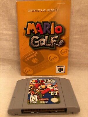 Mario Golf Nintendo 64 Authentic Game Cartridge & Instruction Booklet Manual N64