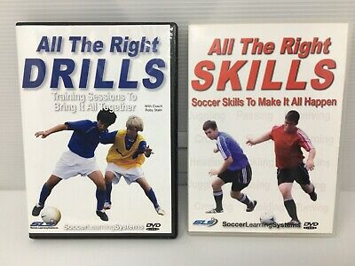 ALL THE RIGHT SKILLS DRILLS DVD's SOCCER TEACHING TRAINING SESSIONS COACH LEARN+