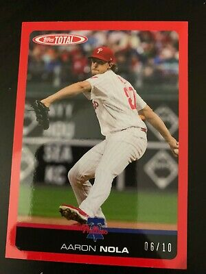 2019 Topps Total Wave 1 Aaron Nola Red 6/10 #66A SSP
