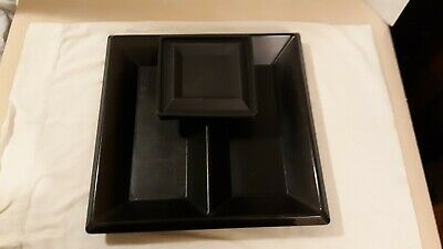TUPPERWARE ~BLACK GET TOGETHER ~3 PC SET Party SERVING TRAY~BOWL~SEAL~CHIP DIP