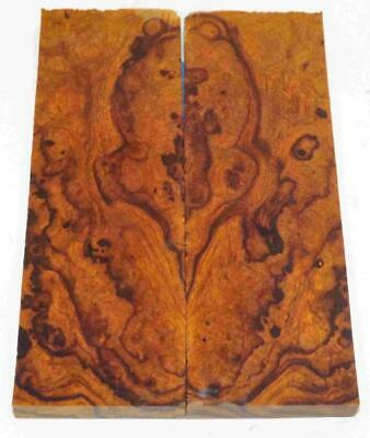 Desert Ironwood burl bookmatched knife scales blanks 5.2 x 1.7 x .37 #B241