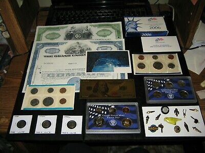 HUGE Coin Lot Mint Set Proof Set Lot Golden Dollar WWII Steel Lot Trinket Lot