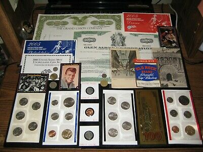 Mint Set COIN LOT Dollars AMERICAN BANDSTAND CARDS Stock WWII JUNK DRAWER