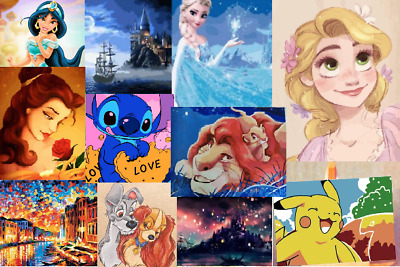 DIY adult Painting Paint by Numbers Cute Disney Character Cartoon Craft UK stock