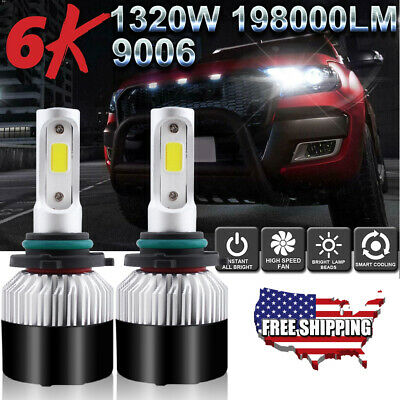9006 LED Fog Light Bulbs Kit for Toyota Corolla 05-08 RAV4 01-05 4Runner 03-09