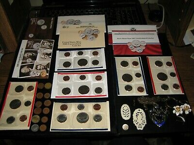 Huge Coin Lot US MINT SET LOT Half Dollars Quarter JEWELRY 40+Coins Junk Drawer