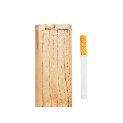 """4"""" Wooden Tobacco Dugout Set with Ceramic One Hitter Smoking Pipe Handmade"""