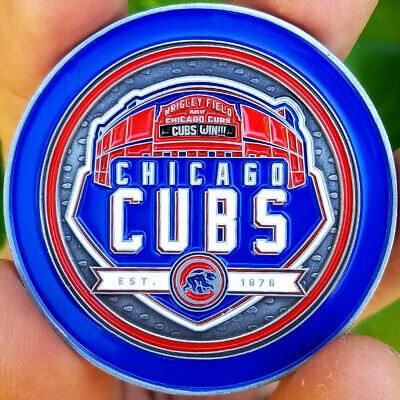 PREMIUM MLB Chicago Cubs Wrigley Field Poker Card Guard Chip Golf Marker Coin