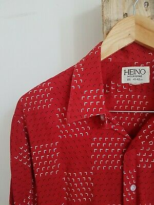 Vintage 70s Red Button Down Shirt