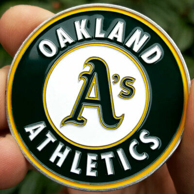 PREMIUM MLB Oakland A's Athletics Poker Card Guard Chip Protect Golf Marker Coin