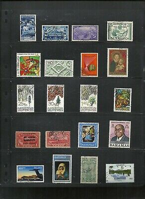Worldwide Used Stamps X 40 Different Better Grade