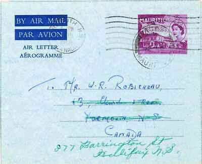 Mauritius 35c QEII Government House Air Letter 1960 Vacoas, Mauritius Airmail to