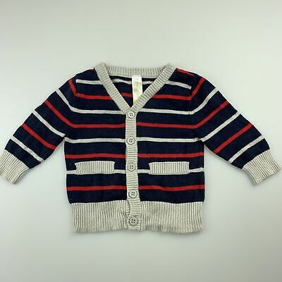 Boys size 00, Dymples, knitted cotton lightweight sweater  cardigan, FUC