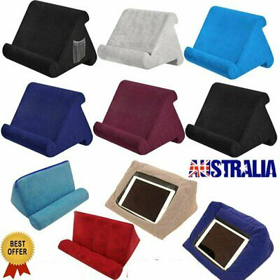 Tablet Pillow Stand For iPad Phone Book Reader Holder Rest Lap Reading CushionVW