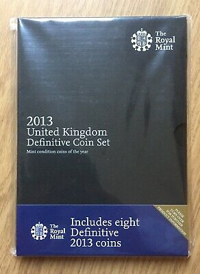 Royal Mint 2013 UK Definitive Coin Set Eight Coins Black Cover