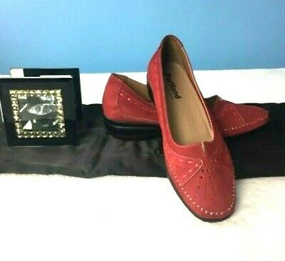 New Portland Rhea RED  Leather Womens Shoes Comfort Shoes Flat