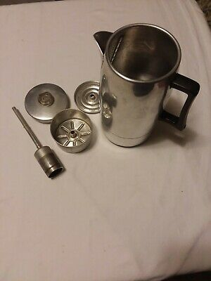 Vintage 9 Cup Coffee Percolator Made in USA Manitowoc, WIS.