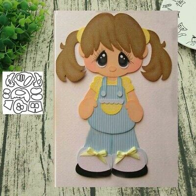 Little Girl Metal Cutting Dies Scrapbooking Paper Cards Album Photo Stencil Sala