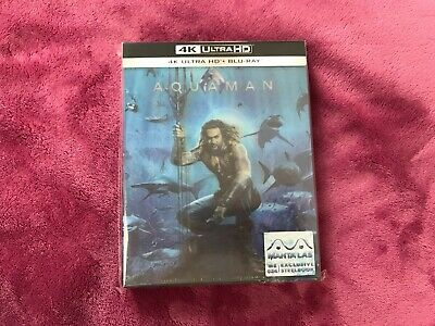 DC Aquaman Manta Lab Exclusive Steelbook #024 Lenticular Full Slip 2D+4K UHD NEW