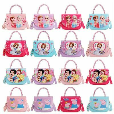 Kids Character Handbag Girls Princess Purses Messenger Shoulder Bags Satchel