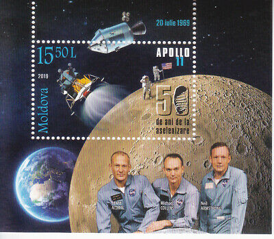 2019  Moldova  50 Yrs from the first Moon Landing  Apollo XI Space USA  s/s