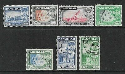ZANZIBAR 1961 Nice Mint and Used Issues Selection to 7s.50 (Jul 167)