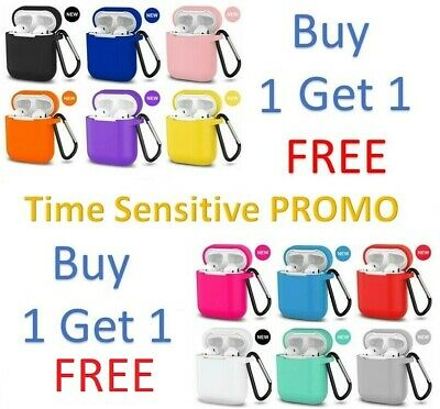 AirPods Silicone Case Cover Protective Skin for Apple Airpod Charging + Keychain