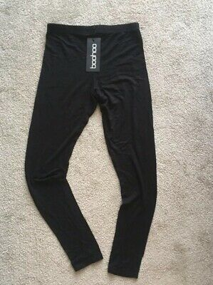 Boohoo - Womens Basic Leggings - Size 6 - Black - New With Tags