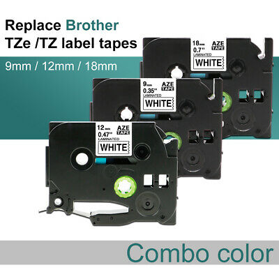 TZ TZe231 Laminated Labeling Maker 8m Label Tape Compatible with Brother P-Touch