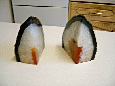 Small Pair of Coloured Stone Bookends (2178)