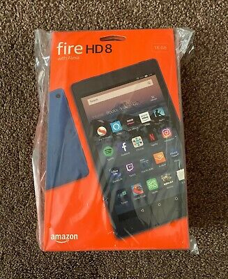 Amazon Kindle Fire HD 8 Inch Tablet with ALEXA 16GB Wi-Fi - BLUE (FAST FREE P&P)