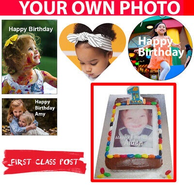 Personalised Photo/Design Cake Topper - Multiple Sizes / Shapes EDIBLE