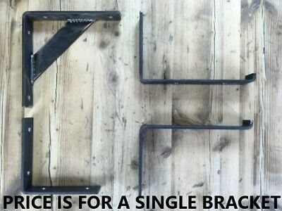 Heavy Duty Raw Steel Industrial Shelf Bracket Handmade Rustic Scaffold Single