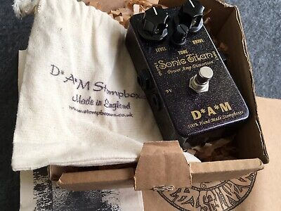 D*A*M Sonic Titan Dark Power Amp Distortion Overdrive Boost Pedal DAM