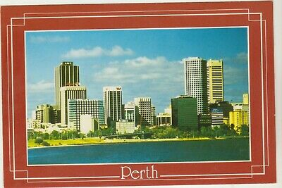 Swan River And City Of Perth Western Australia Emu Postcard