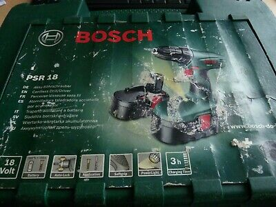 Bosch PSR 18V Cordless Drill/Driver (6082943251) with case. battery & charger